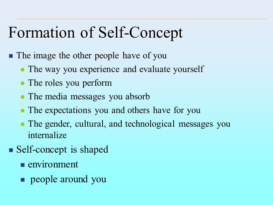 Formation of Self-Concept