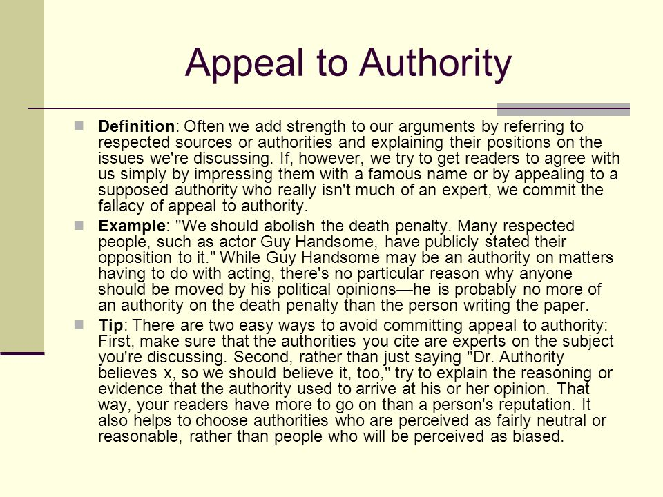 What Is An Appeal To Authority? - YouTube