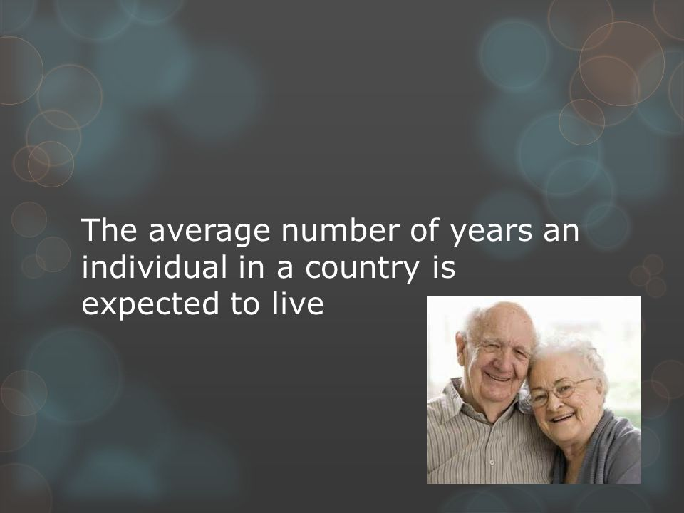 The average number of years an individual in a country is expected to live