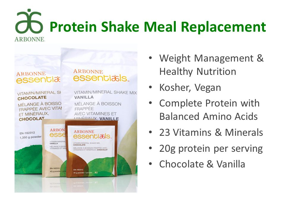 Protein Shake Meal Replacement