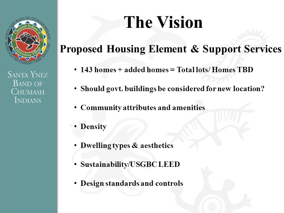 The Vision Proposed Housing Element & Support Services