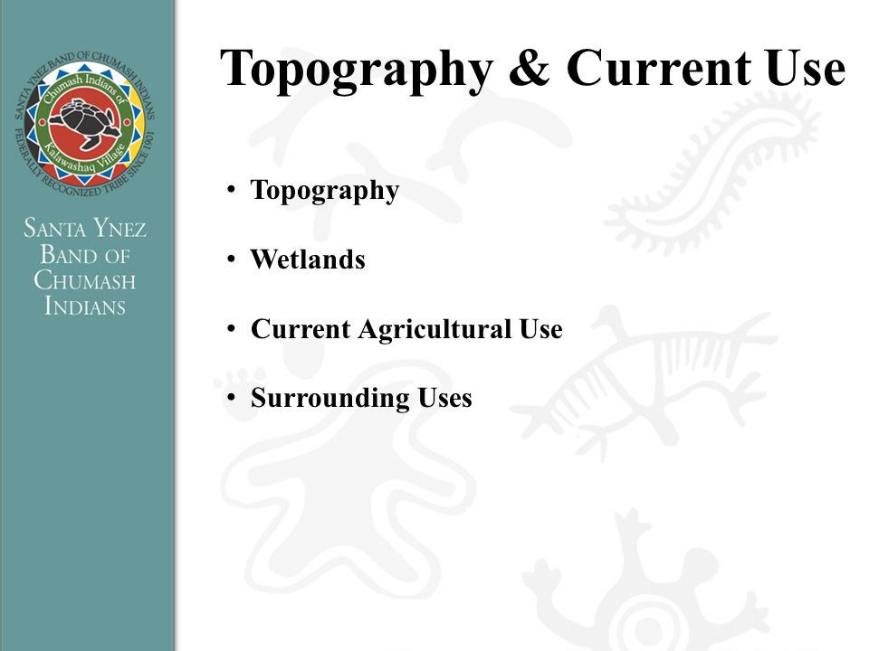 Topography & Current Use