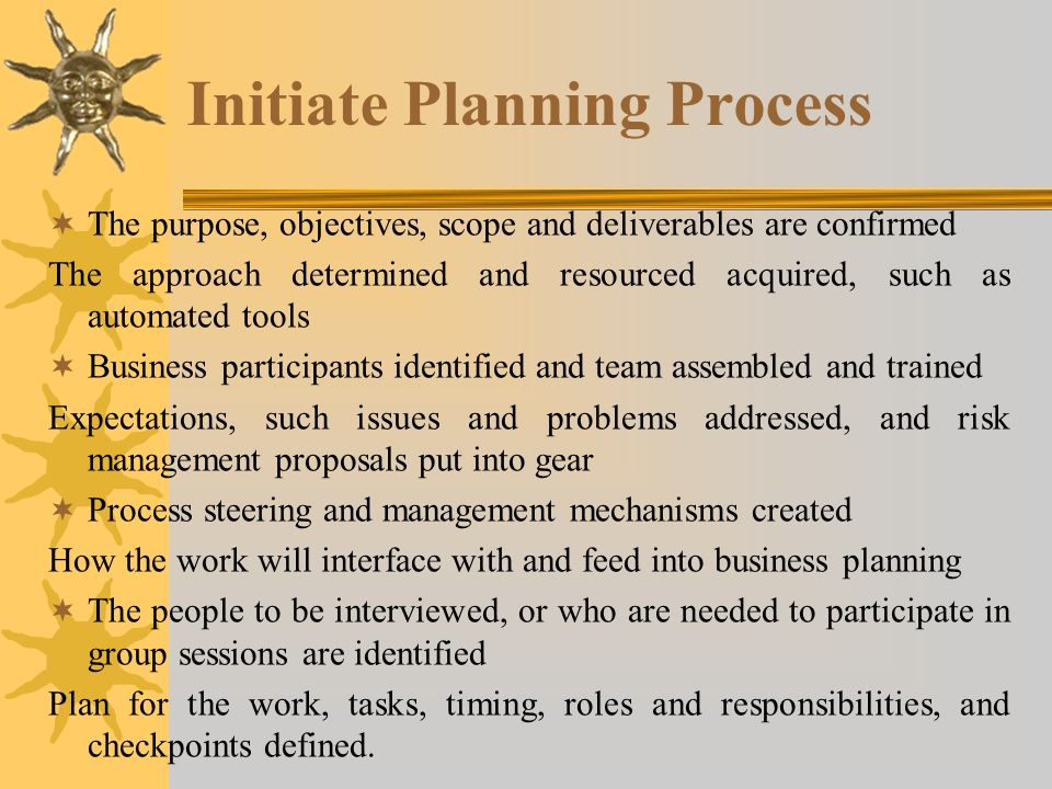 Initiate Planning Process