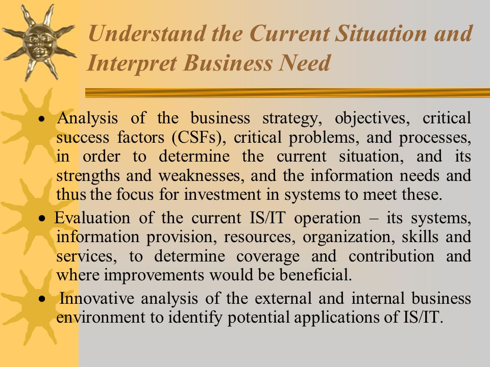 Understand the Current Situation and Interpret Business Need