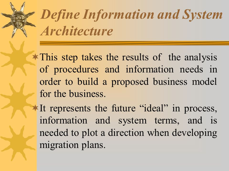 Define Information and System Architecture