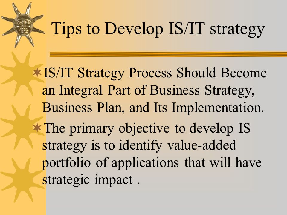 Tips to Develop IS/IT strategy