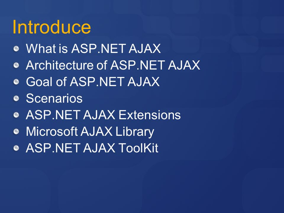 Microsoft ajax library essentials: client-side asp. Net ajax 1. 0.