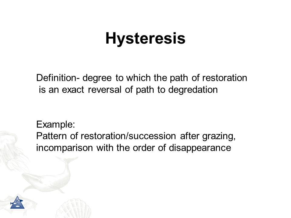 Hysteresis Definition- degree to which the path of restoration