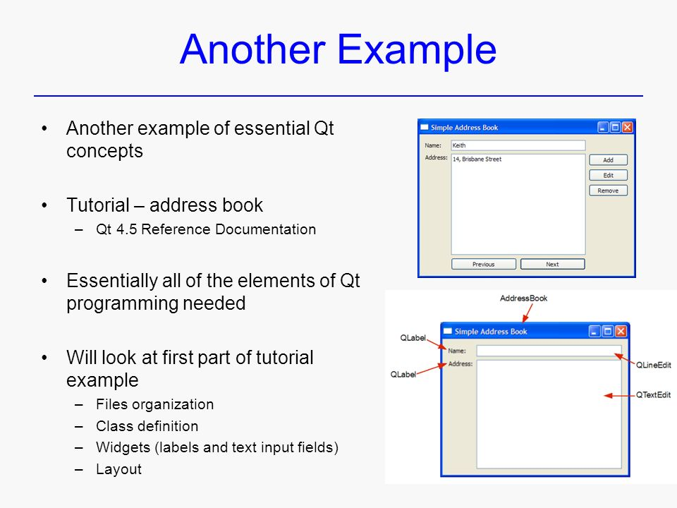 Qt – Introduction C++ GUI Programming with Qt 3 - ppt download