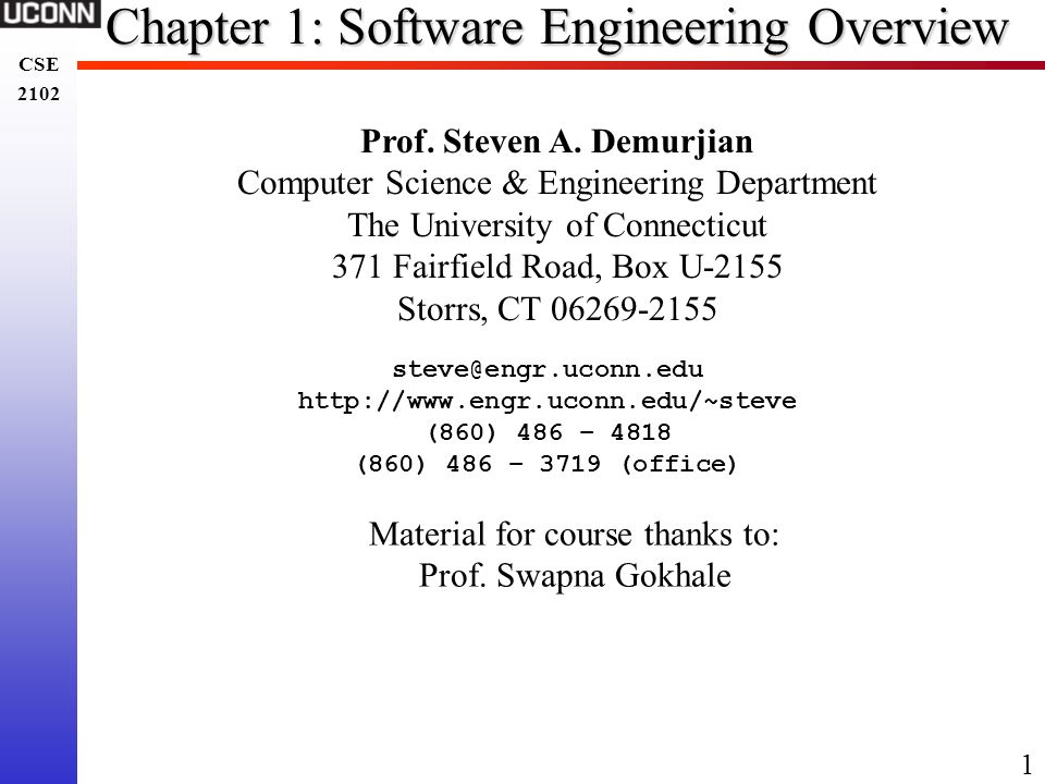 Chapter 1: Software Engineering Overview
