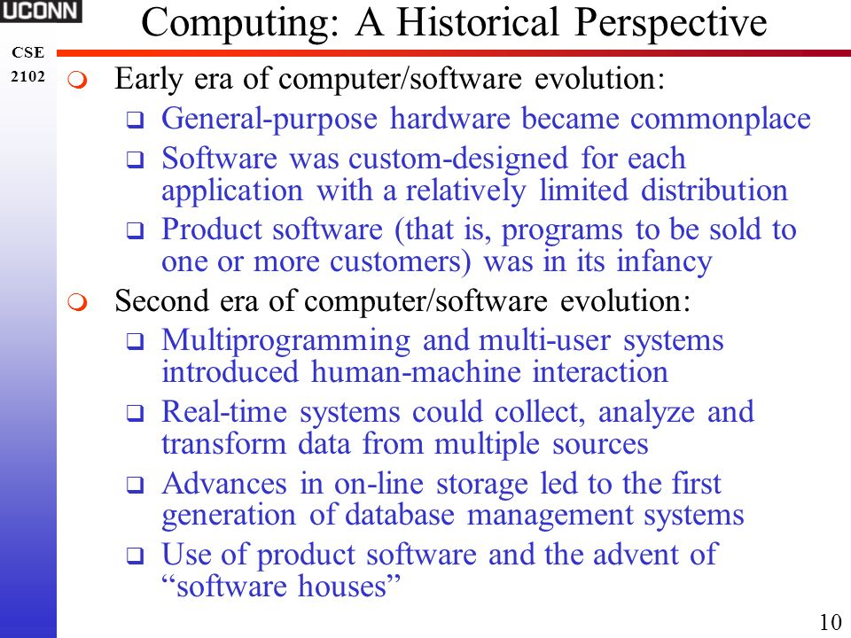 Computing: A Historical Perspective