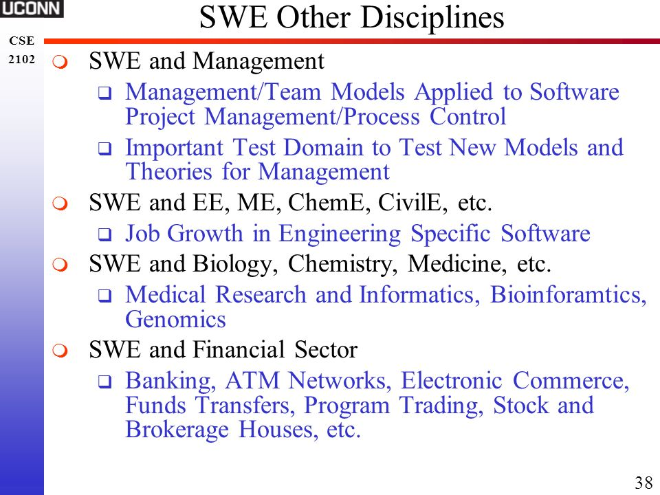 SWE Other Disciplines SWE and Management