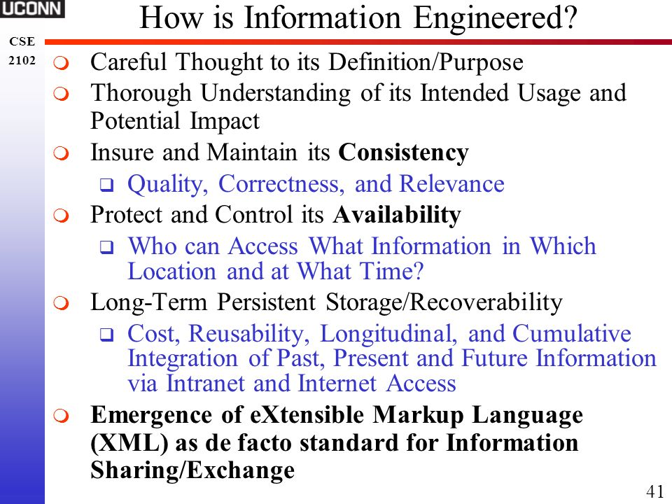 How is Information Engineered