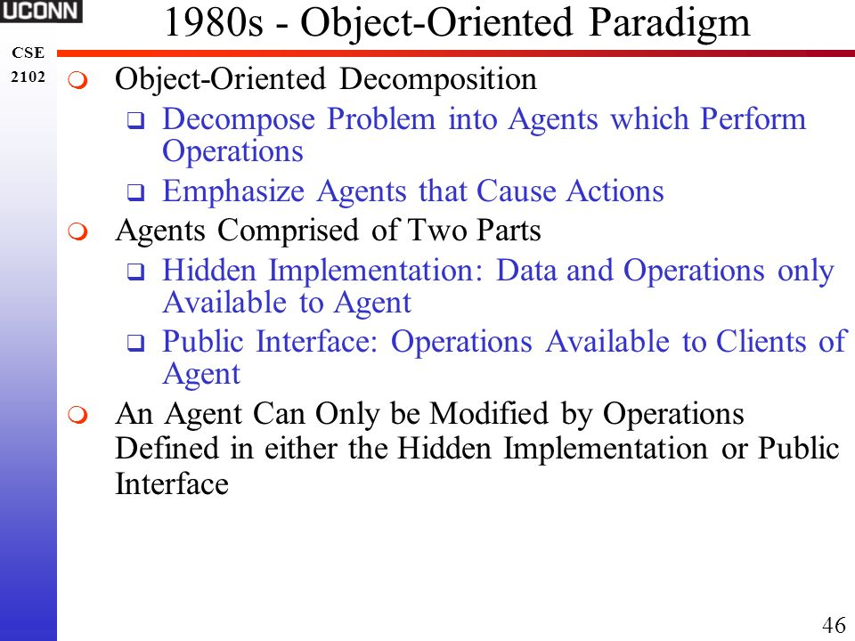1980s - Object-Oriented Paradigm