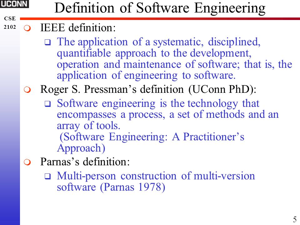 Definition of Software Engineering