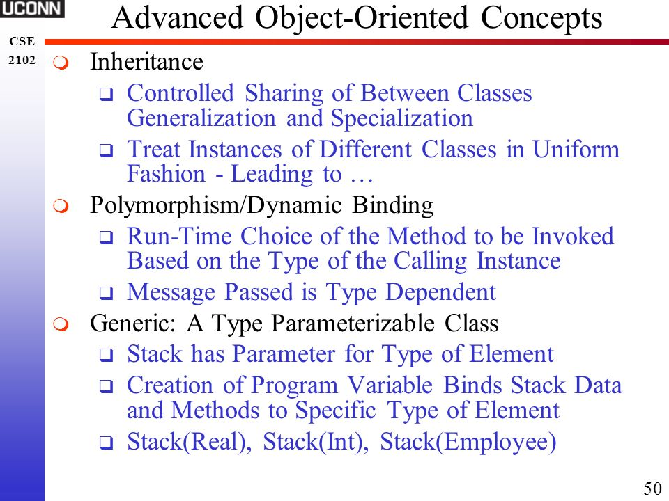 Advanced Object-Oriented Concepts