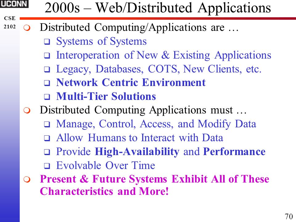 2000s – Web/Distributed Applications