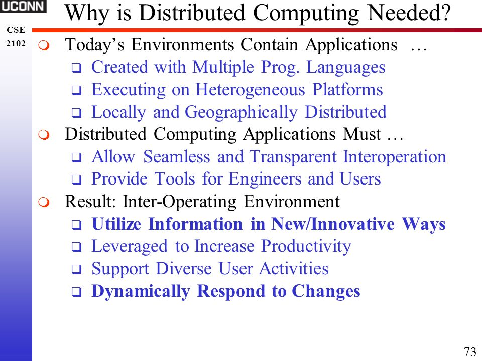 Why is Distributed Computing Needed
