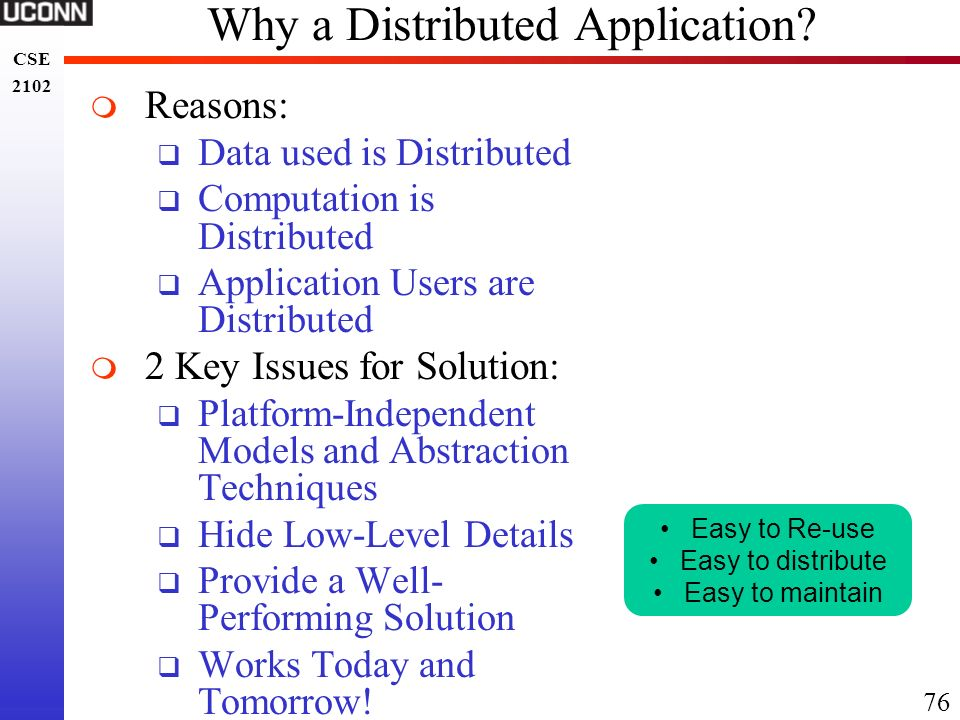 Why a Distributed Application