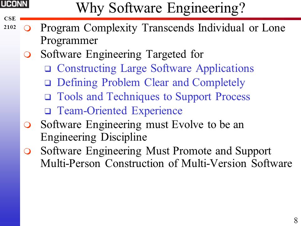 Why Software Engineering