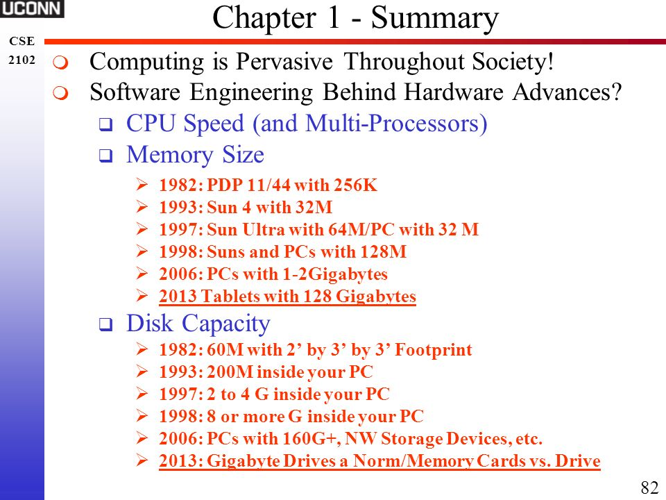 Chapter 1 - Summary Computing is Pervasive Throughout Society!