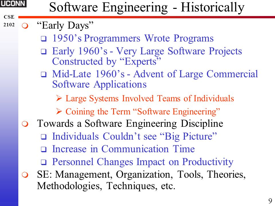 Software Engineering - Historically