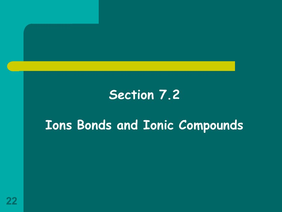 Ions Bonds and Ionic Compounds