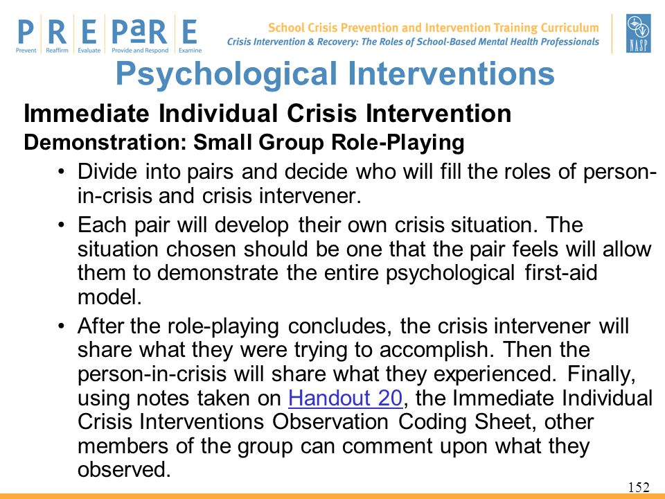 Psychological Interventions