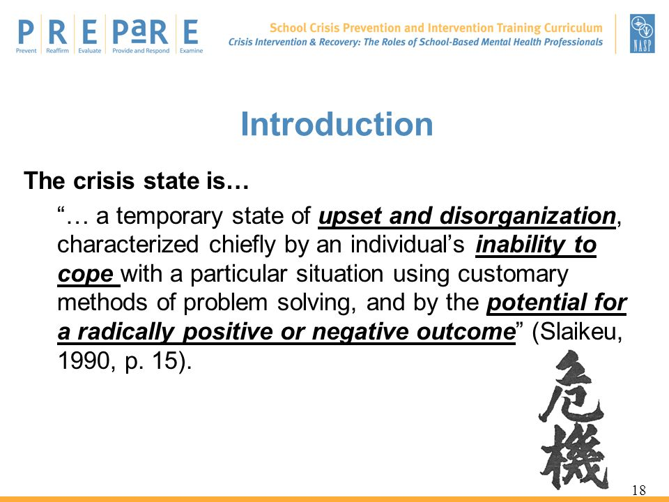 Introduction The crisis state is…