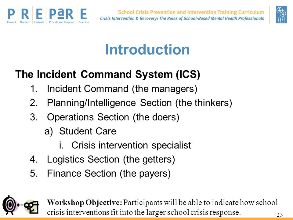 Introduction The Incident Command System (ICS)