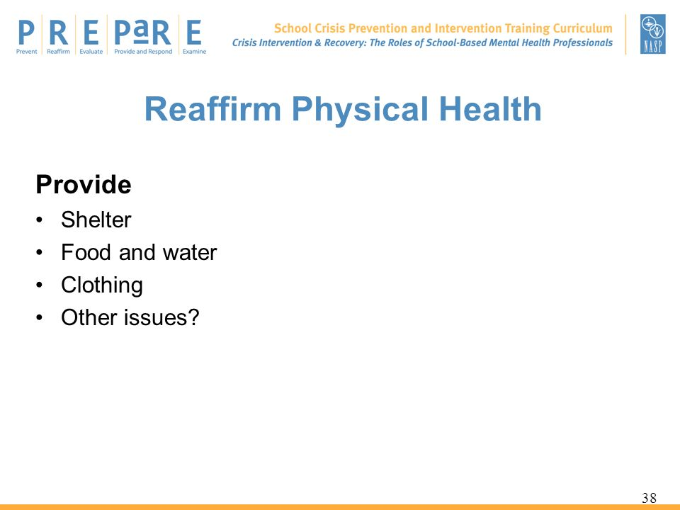Reaffirm Physical Health