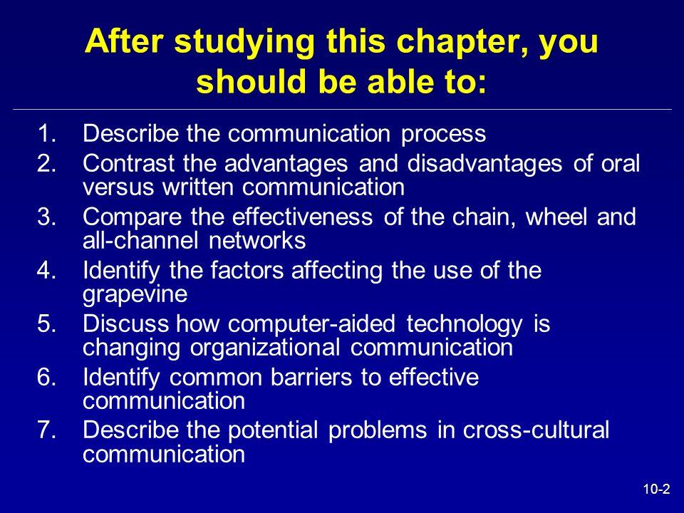 advantages and disadvantages of oral presentation