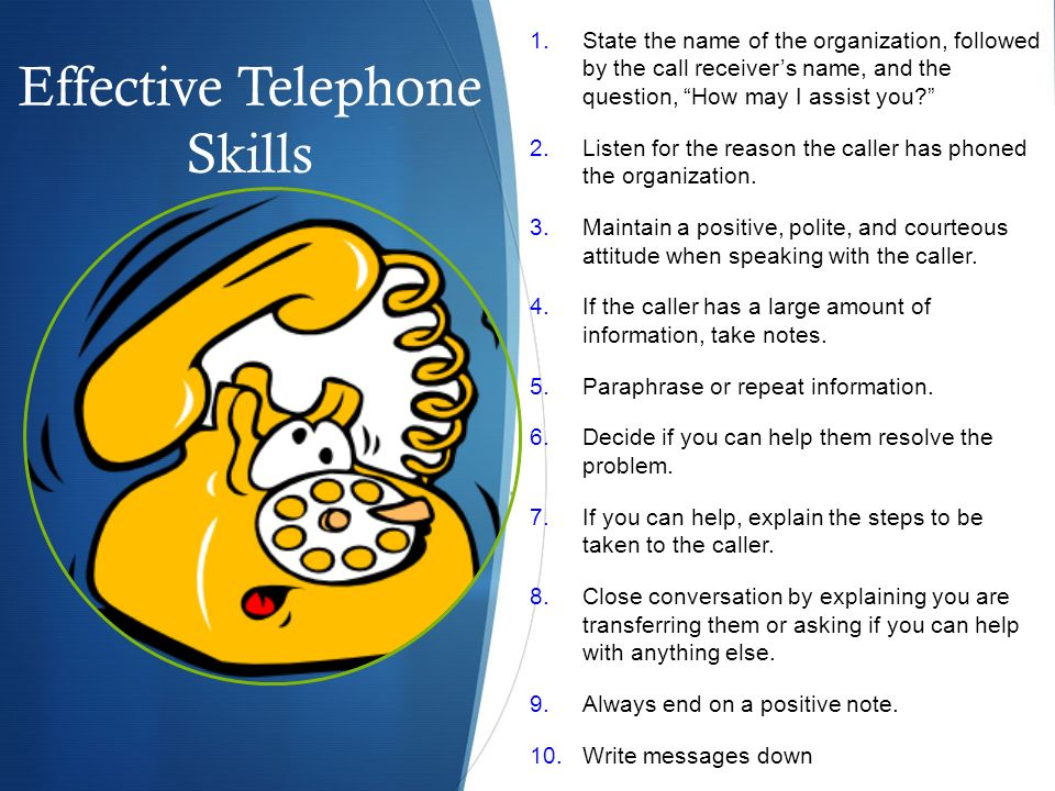 Effective Telephone Skills