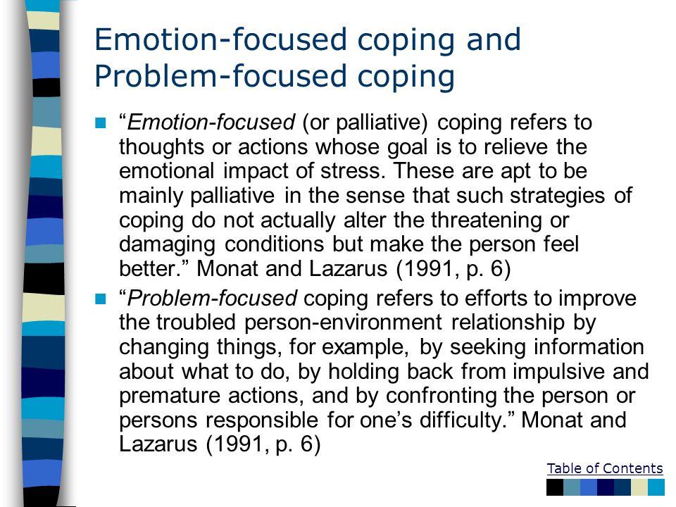emotion focused coping stress