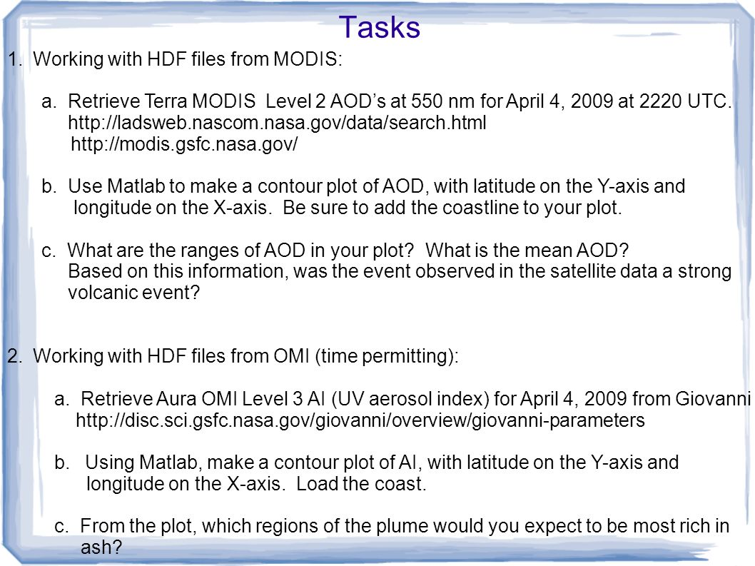 A Matlab tutorial in working with HDF files - ppt video online download