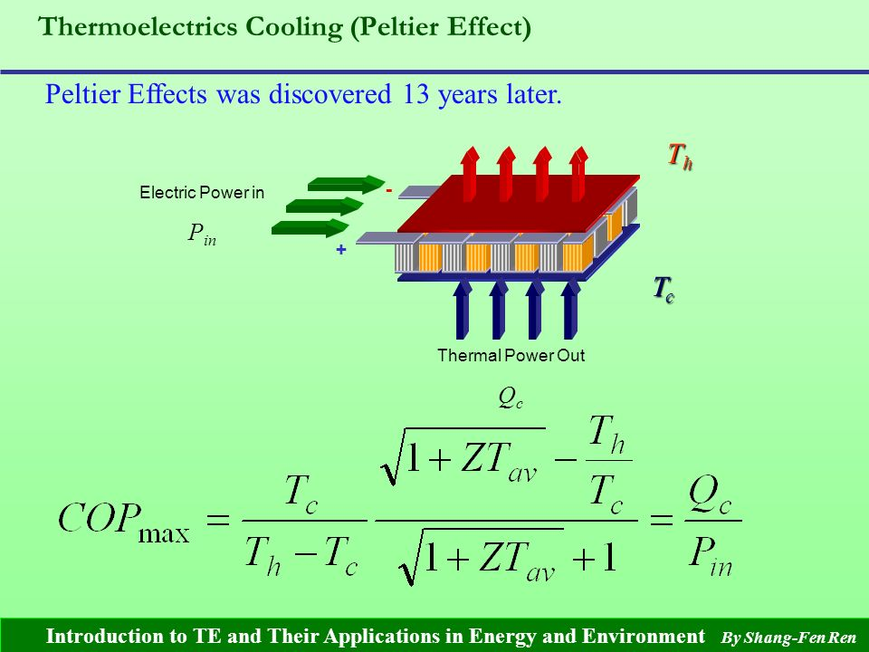 Introduction to Thermoelectric Effects And Their