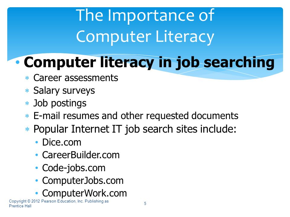 reasons why computer literacy is important