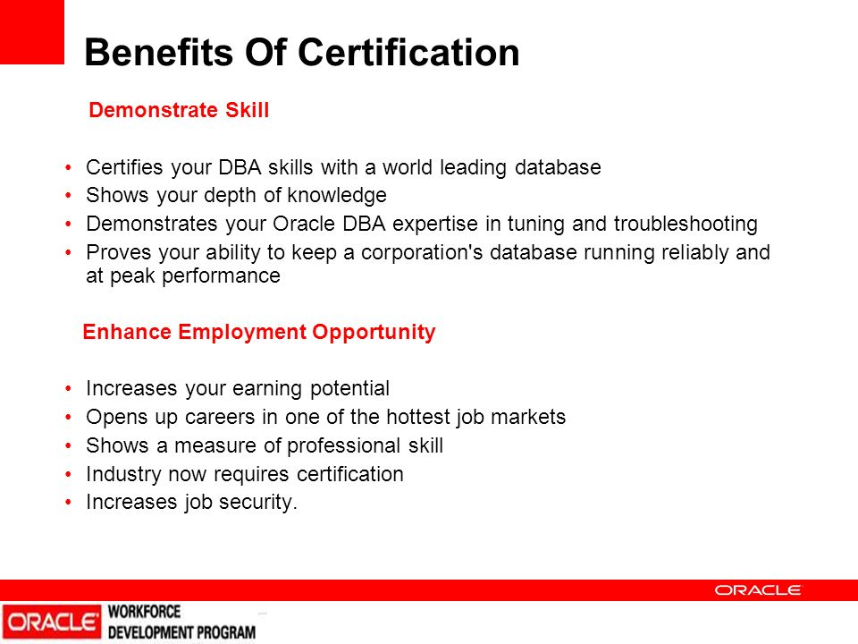 ORACLE CERTIFICATION. ORACLE CERTIFICATION ORACLE OVERVIEW $ 18 ...