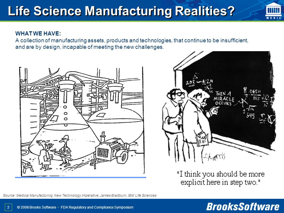 Life Science Manufacturing Realities
