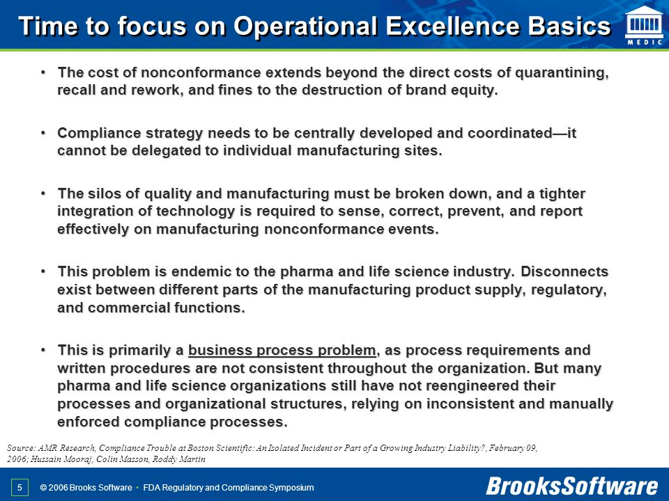 Time to focus on Operational Excellence Basics