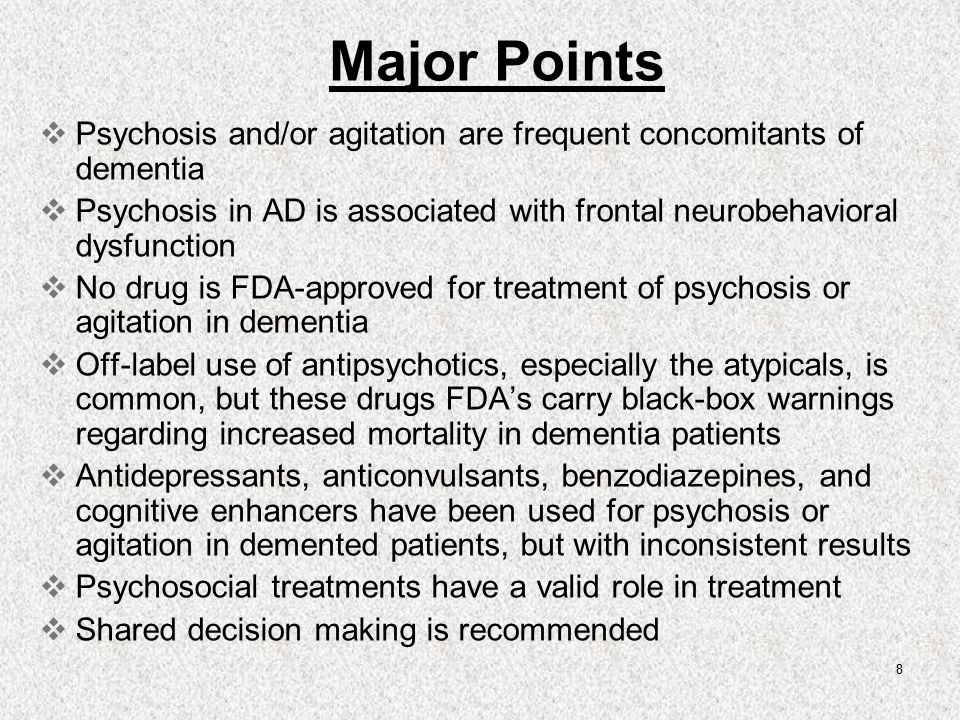 psychosis and dementia