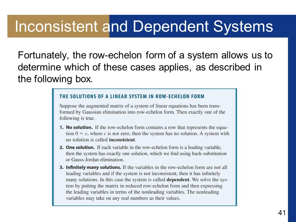 Inconsistent and Dependent Systems