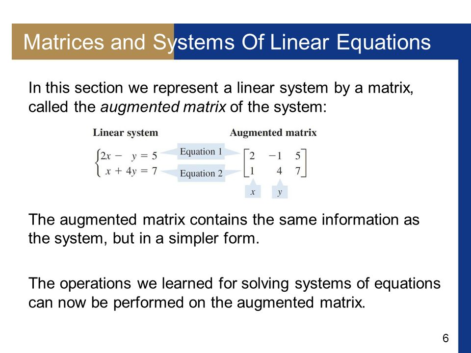 Matrices and Systems Of Linear Equations
