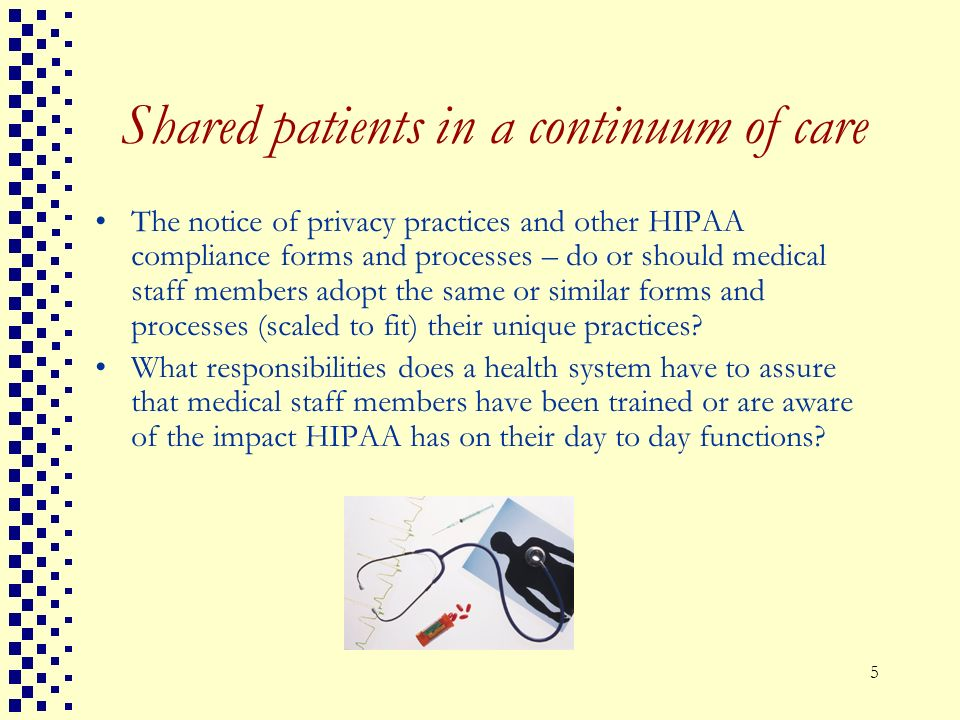 Shared patients in a continuum of care