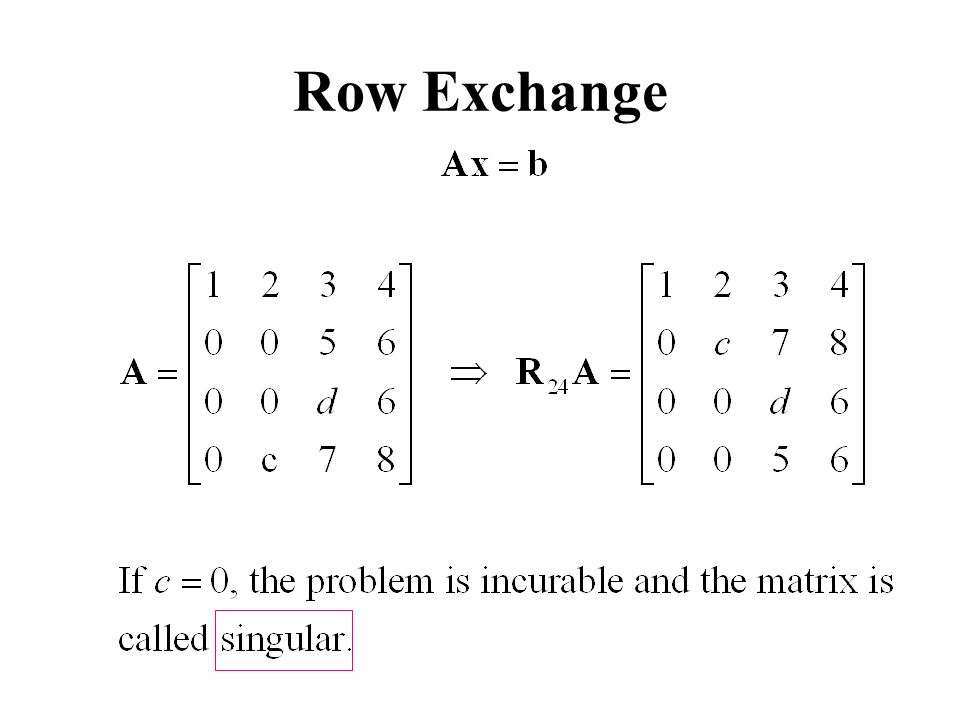 Row Exchange