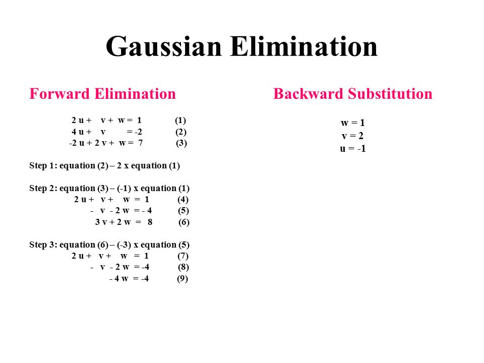 Backward Substitution