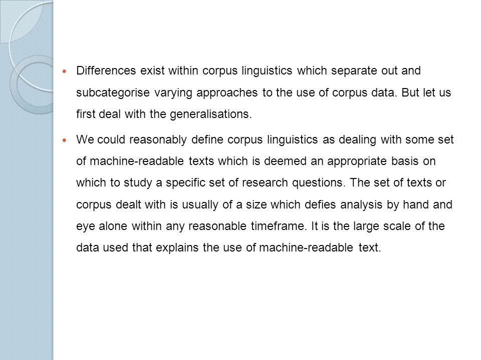 Using Corpus Linguistics in Research - ppt download