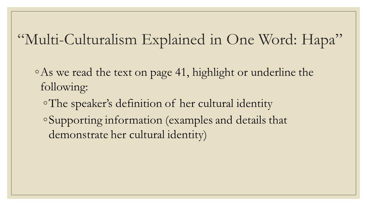 2 Multi Culturalism