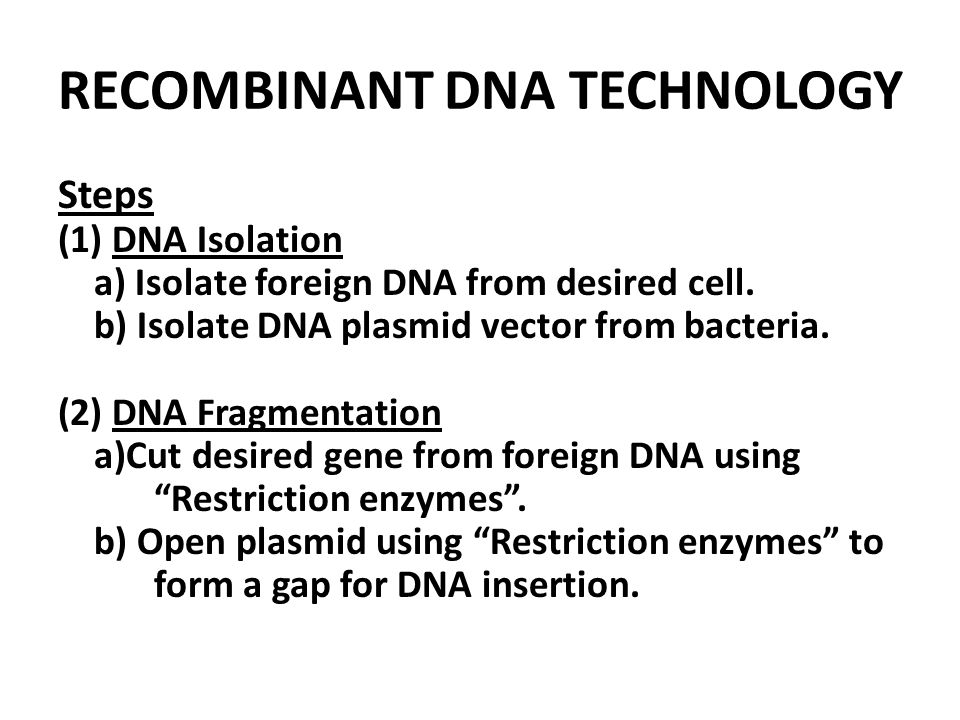 an experiment using dna technology to identify an unknown plasmid Some bacteria have taken up the desired recombinant plasmid dna, other bacteria that have taken up other dna 4) cloning of cells (and foreign genes) plate out the transformed bacteria on a solid nutrient medium containing ampicillin and a sugar called x-gal.