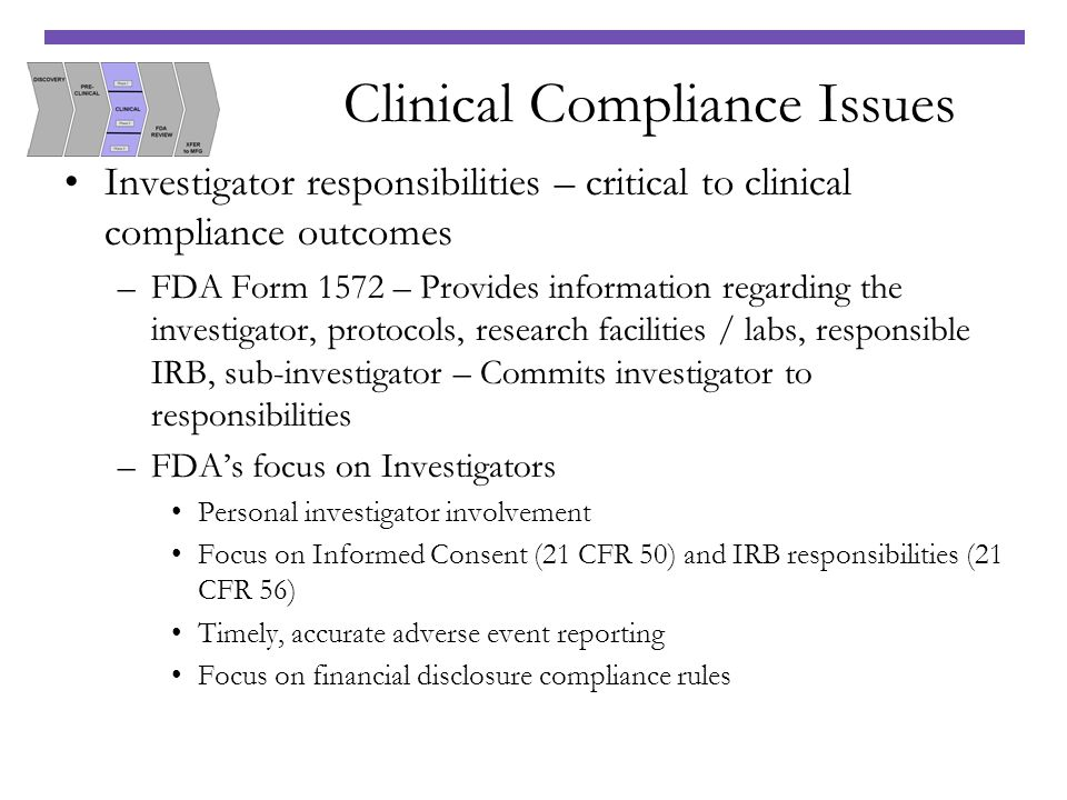 Clinical Compliance Issues